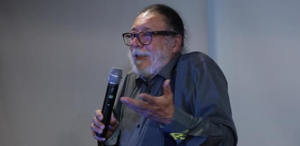 O perito Ricardo Molina durante coletiva de imprensa sobre a gravação da conversa entre Temer e Joesley Batista