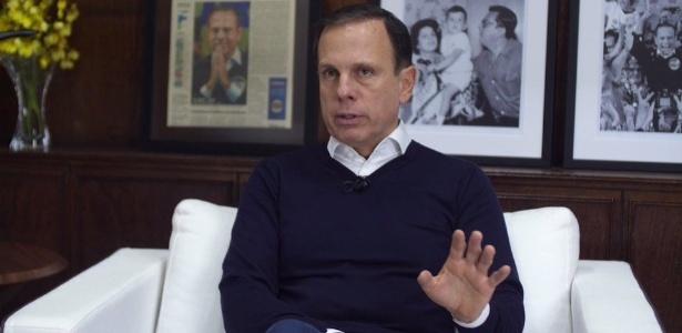 Prefeito de São Paulo, João Doria (PSDB) diz que próximo presidente deve ser um 'gestor' e minimiza ascensão de Jair Bolsonaro (PSC)