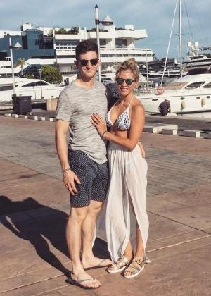 Michael Randall e a namorada, Charlotte Bull - Acervo pessoal