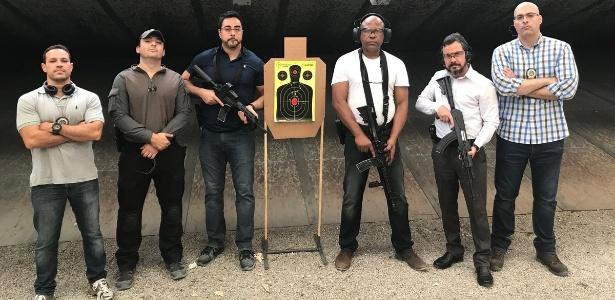 Foto postada por Bretas em dezembro em agradecimento por treinamento realizado pela Polícia Civil