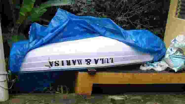 Barco achado no sítio trazia os nomes de Lula e da ex-primeira-dama - Reprodução/PF - Reprodução/PF