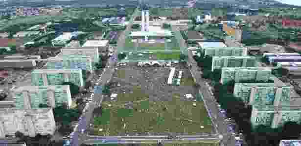 Vista aérea da esplanada dos ministérios, em Brasília - Agência Brasil
