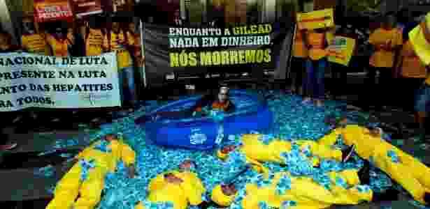 Ato em São Paulo defende rejeição de patente de medicamento para hepatite C - Ernesto Rodrigues - Ernesto Rodrigues
