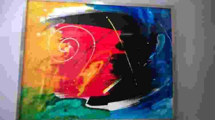 Quadro pintado por Luiz Claudio Sant'anna, o Lico, acusado pela polícia de ser um dos líderes do Comando Vermelho - Divulgação/Polícia Civil PB - Divulgação/Polícia Civil PB