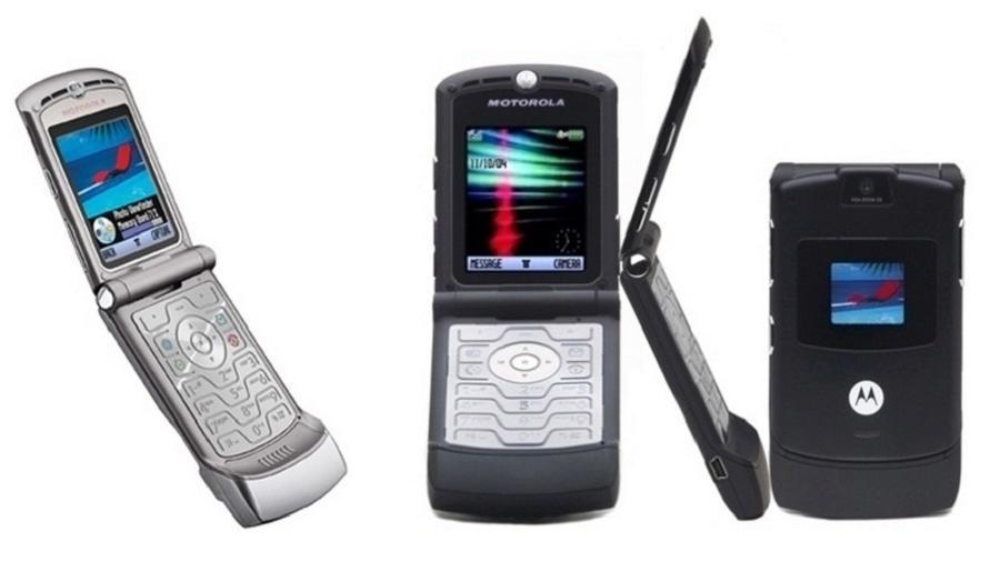 Motorola Razr V3, que marcou época nos anos 2000 - Divulgação