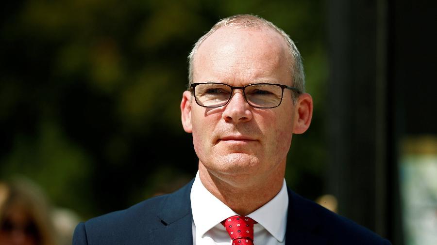 28.ago.2019 - O chanceler irlandês Simon Coveney - Benoit Tessier - 28.ago.2019/Reuters