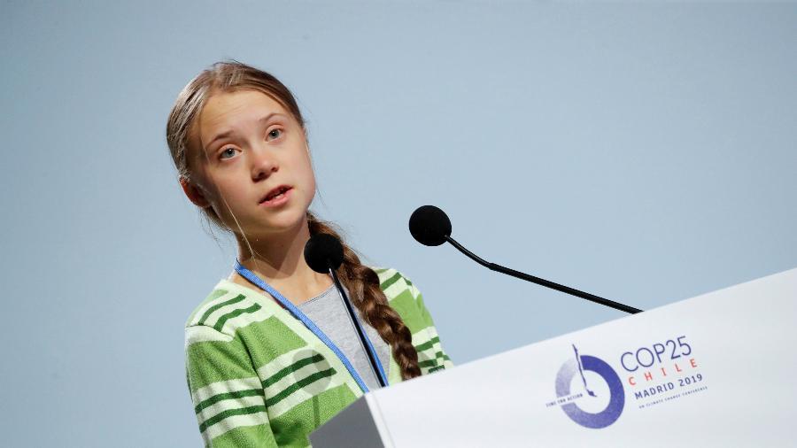 A ativista Greta Thunberg venceu hoje a primeira edição do prêmio português Gulbenkian para a Humanidade - Susana Vera/Reuters