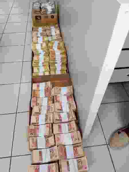 MPMG apreendeu R$ 840 mil em dinheiro durante operação que investigou fraudes no Detran de Santa Luzia, na Grande BH - Divulgação/Ministério Público de Minas Gerais (MPMG)