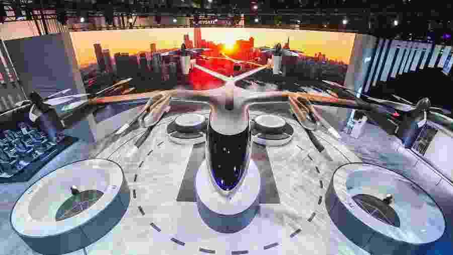 """O """"Hyundai Uber Aerial Ridesharing"""", apresentado na CES 2020 - Divulgação"""