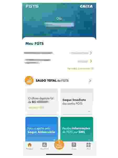 Reprodução/Aplicativo FGTS