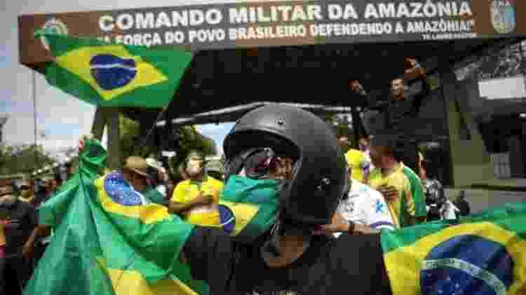 Em 19 de abril, manifestantes protestaram em Manaus contra medidas de isolamento social do governo estadual do Amazonas - Reuters - Reuters