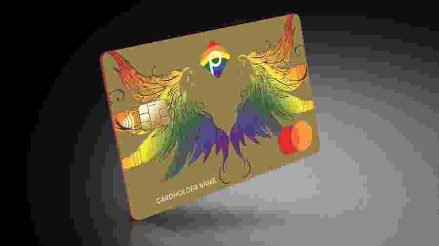 Cartão de crédito pré-pago do Pride Bank - Divulgação