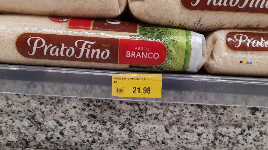Pacote de arroz de cinco quilos chega a custar R$ 21,98 em Campinas (SP) - Felipe Pereira/UOL