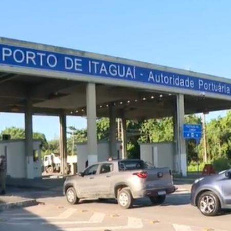 Prefeitura de Itaguaí (RJ) liberou a operação do Porto de Itaguaí - Reprodução/TV Globo
