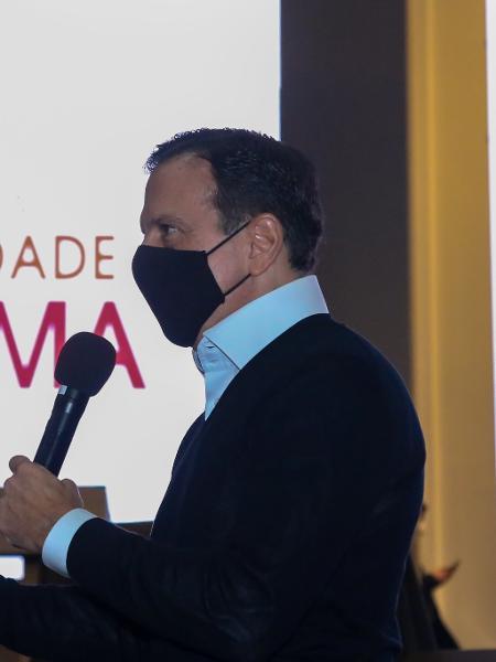 O governador João Doria falou sobre a ButanVac durante o lançamento do Programa Dignidade Íntima - Divulgação