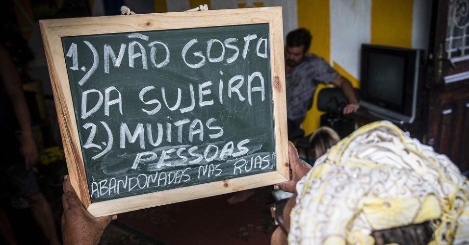 """""""Quando cheguei em São Paulo, no fim do anos 70, não havia tanto lixo nas ruas, nem tanta gente abandonada. Não gosto de ver gente abandonada""""."""