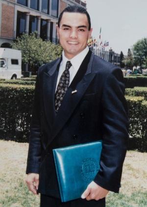 Jorge Antonio Parral Rabadan foi sequestrado por uma quadrilha e morto por soldados em um ataque em 2010. A foto é de 1997