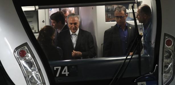 Temer participou da inauguração da linha 4 do metrô do Rio em meio a aplausos e vaias - Wilton Junior/ Estadão Conteúdo