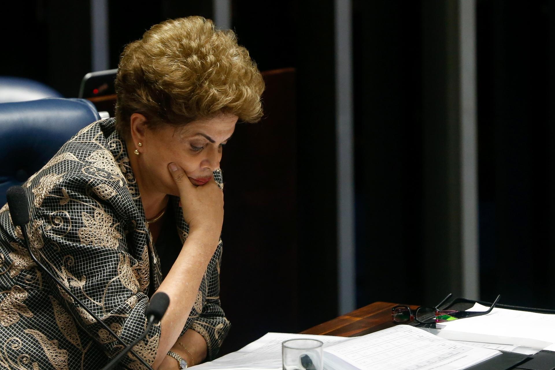 BRASILIA, DF, BRASIL, 29-08-2016, 09h00: A presidente afastada Dilma Rousseff faz sua defesa ne sessão para votação do julgamento final do processo de impeachment