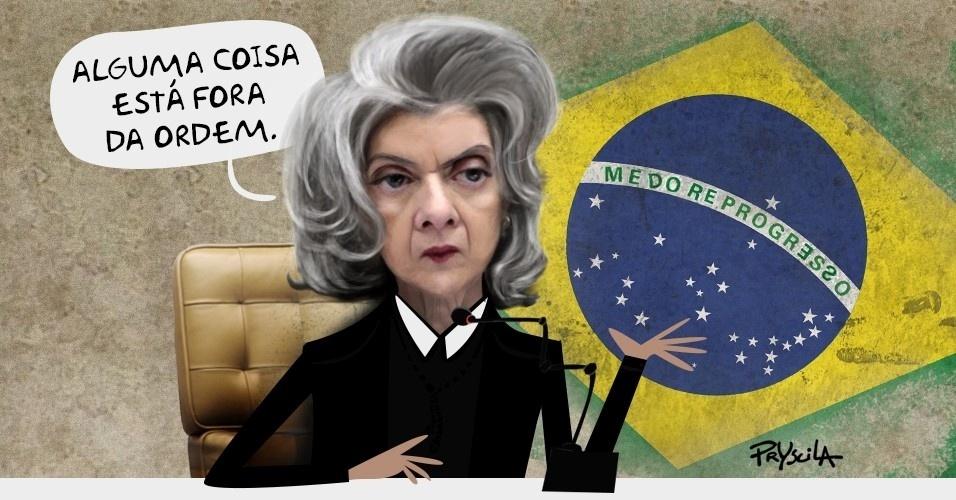 14.set.2016 - Nova presidente do STF, Cármen Lúcia já viu que a casa não está em ordem