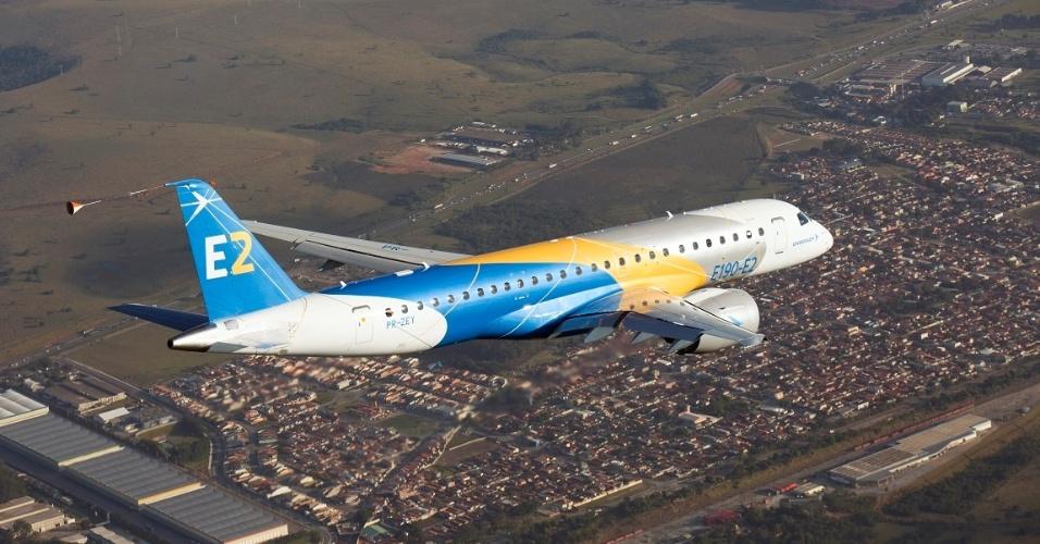 Avião E190, da Embraer voou pela primeira vez em 2016