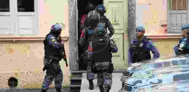 Tropa de choque entra na Cadeia Pública Raimundo Vidal Pessoa, em Manaus - Edmar Barros/Futura Press/Estadão Conteúdo - Edmar Barros/Futura Press/Estadão Conteúdo