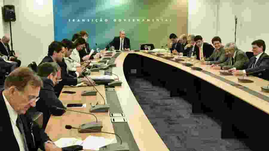 27.dez.2018 - Reunião entre futuros ministros do governo Bolsonaro - Divulgação/Governo de Transição