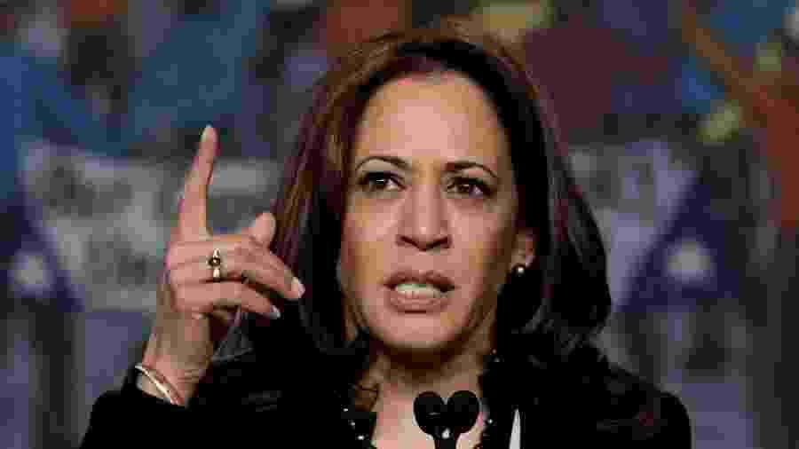 A senadora democrata Kamala Harris foi escolhida para ser vice na chapa de Joe Biden - Yuri Gripas/Reuters