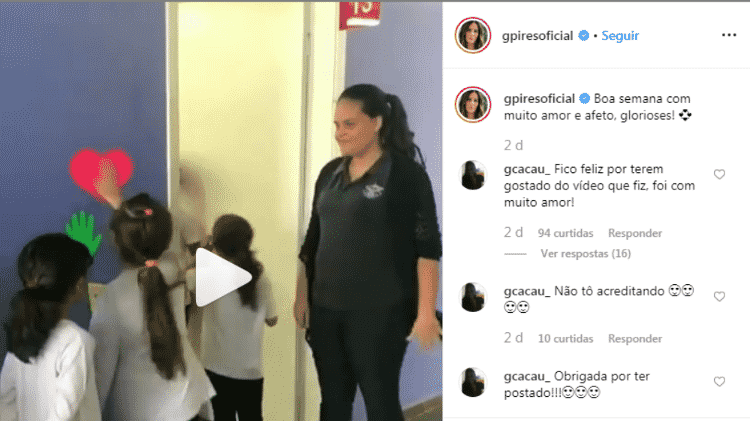 Gloria Pires compartilha vídeo de professora recebendo alunos de forma carinhosa - reprodução/Instagram