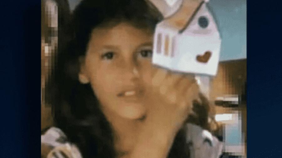 Raíssa Eloá Caparelli Dadona, de 9 anos, foi encontrada no domingo amarrada a uma árvore - Reprodução/Balanço Geral
