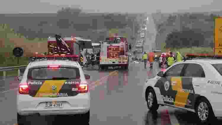 Congestionamento de aproximadamente doisquilômetros se formou ao longo da rodovia após o acidente - Tainá Vétere/Jornal da Cidade de Bauru
