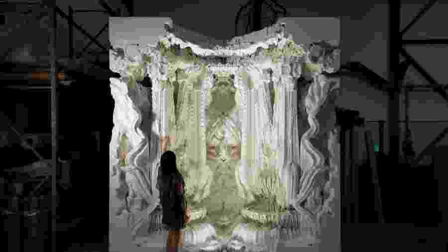 Digital Grotesque é uma obra feita pelo arquiteto Benjamin Dillenburger; ela foi criada com ajuda de algoritmos - Divulgação