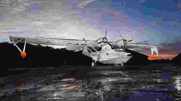 Avião anfíbio Catalina que foi usado para realizar patrulha marítima pela Aeronáutica do Brasil - Divulgação/Força Aérea Brasileira  - Divulgação/Força Aérea Brasileira