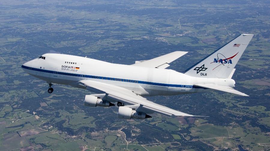 Avião Boeing 747SP que leva o telescópio Sofia - Carla Thomas/Nasa