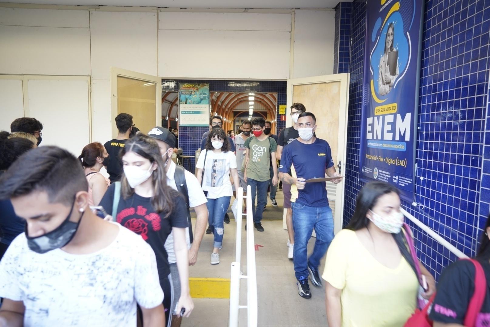 1º dia do Enem na unidade Marquês de São Vicente da Unip, na zona oeste de São Paulo - André Porto/UOL