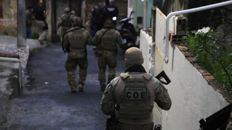 Operação Retomada cumpriu ordens de prisão e mandados de busca e apreensão  - Alberto Maraux/Secretaria da Segurança Pública da Bahia