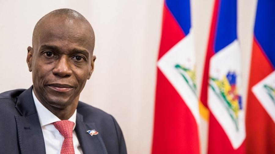 Jovenel Moise no Palácio Presidencial; assassinado hoje, presidente do Haiti denunciou tentativa de golpe em fevereiro deste ano - Valerie Baeriswyl/AFP