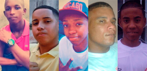 Cleiton, Carlos Eduardo, Roberto, Wesley e Wilton foram criados juntos no Morro da Lagartixa, na zona norte do Rio - Arte/UOL