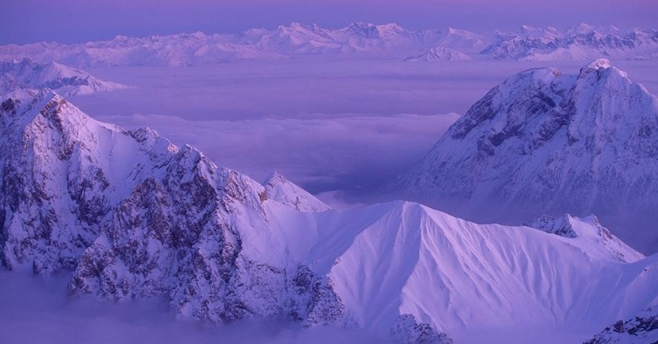 28.mar.2016 - Montanhas se encontram entre Áustria e Alemanha, perto dos Alpes de Zillertal