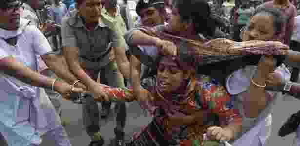 Protesto contra estupro coletivo na Índia; casos aumentaram no país e viraram assunto de preocupação nacional - Dibyangshu Sarkar/AFP