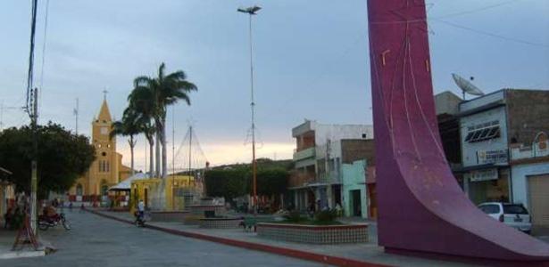 Centro do município de Água Branca, no sertão da Paraíba