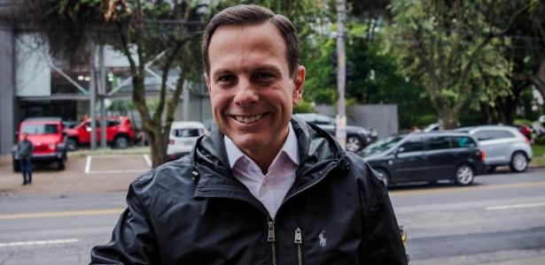 O prefeito eleito pelo PSDB Joao Doria, chega para sua coletiva de imprensa, no comitê de sua campanha, na avenida Europa, em São Paulo