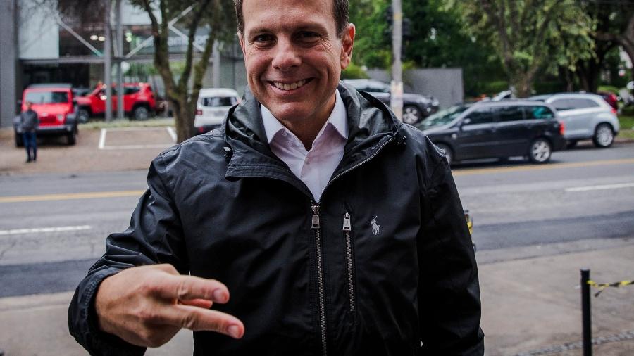 03.out.2016 - O  então prefeito eleito pelo PSDB Joao Doria, chega para sua coletiva de imprensa, no comitê de sua campanha, na avenida Europa, em São Paulo - Eduardo Anizelli/Folhapress