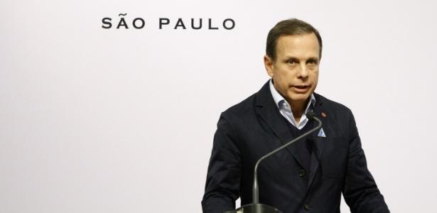 O prefeito de São Paulo João Doria (PSDB) durante a cerimônia de inauguração da Japan House, na capital paulista - Fábio Vieira/Fotorua/ Estadão Conteúdo