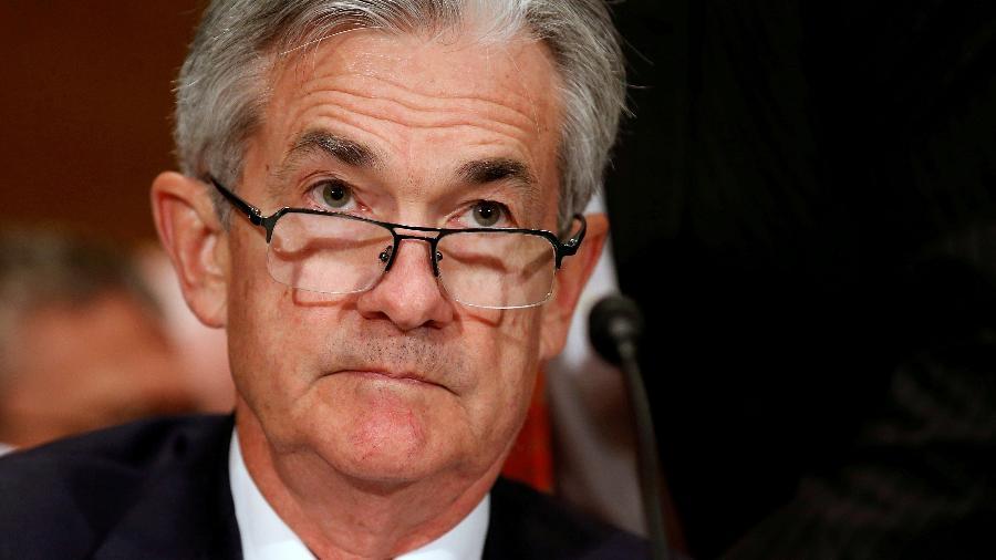 O líder do banco central norte-americano, Jerome Powell, fez declarações sobre a economia nacional nesta terça (23) - Por Howard Schneider