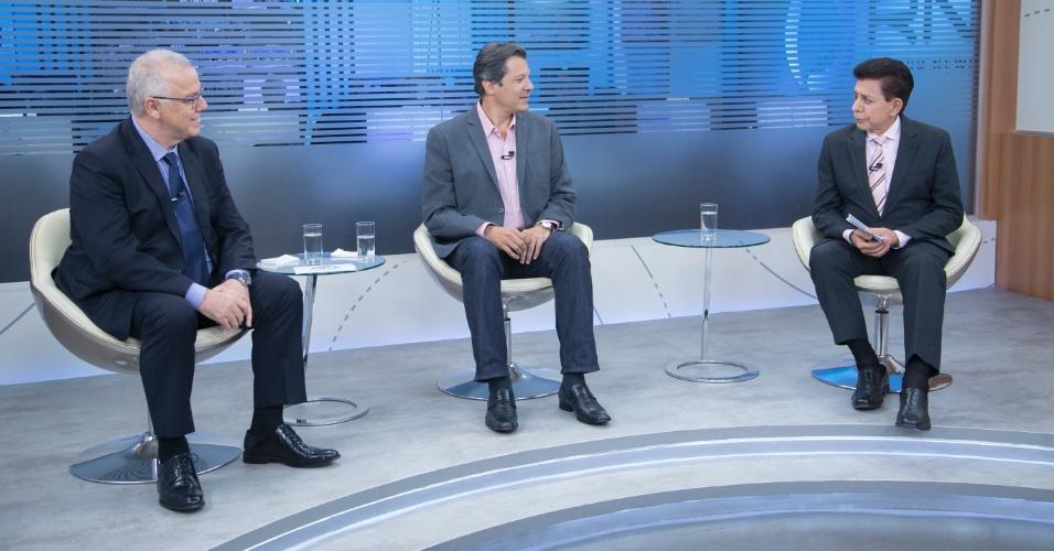 4.set.2018 - Fernando Haddad participa de sabatina na Record News com candidatos à vice