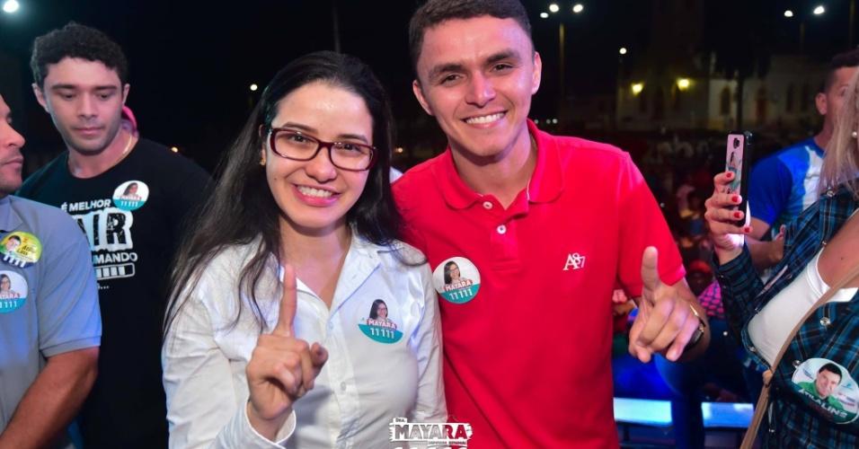 10.out.2018 - A candidata a deputada estadual Mayara Pinheiro (PP), 31 anos, foi a mais votada Amazonas. Com 50.819 votos