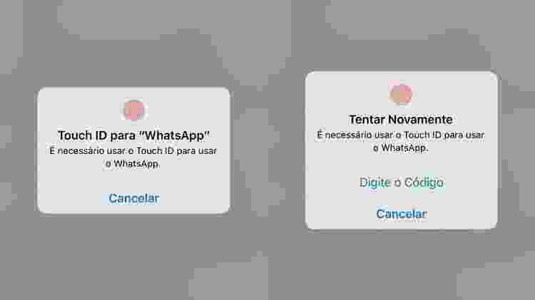 WhatsApp Touch ID  - Reprodução - Reprodução