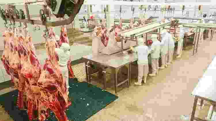 Corte de carne em frigorífico - Divulgação - Divulgação