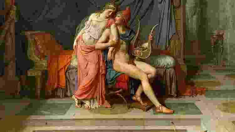 'Os Amores de Paris e Helena', de Jacques Louis David (1748-1825) - Getty